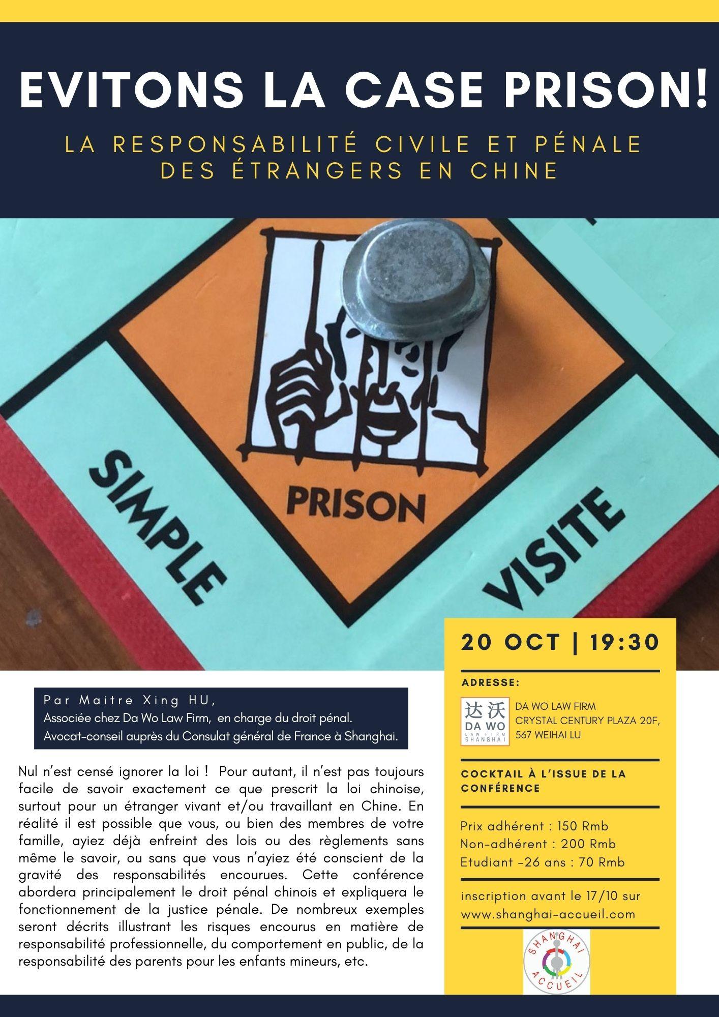 Conferences - Evitons La Case Prison!