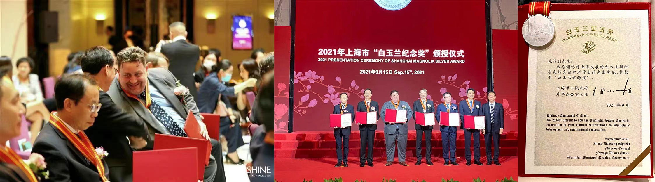 Philippe Snel Honored with 2021 Shanghai Magnolia Silver Award